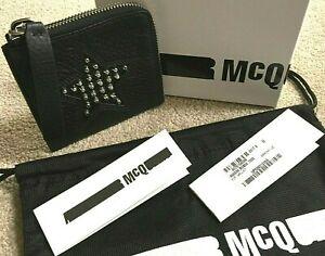 Alexander Mcqueen Noir En Cuir Cloutées Soltace Fermeture éclair Wallet Coin Pouch Entièrement Neuf Dans Sa Boîte-afficher Le Titre D'origine éLéGant Dans Le Style