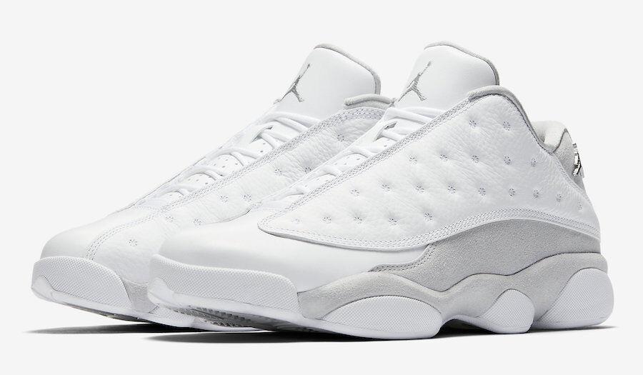 Nike Air Jordan Retro 13 Low Pure Money Size 11-14 White Silver 310810 100