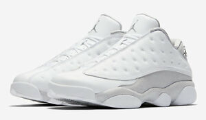 e5d41a34073e84 Nike Air Jordan Retro 13 Low Pure Money White Silver 310810 100