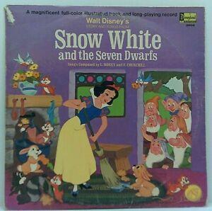 Disney-Snow-White-Original-Vinyl-Album-1969-Vintage-Book-amp-Film-Soundtrack
