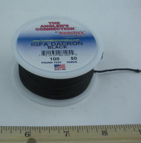 Woodstock Braided IGFA Black Dacron Line 100 Lb. Test 50 Yd. Spool 25873