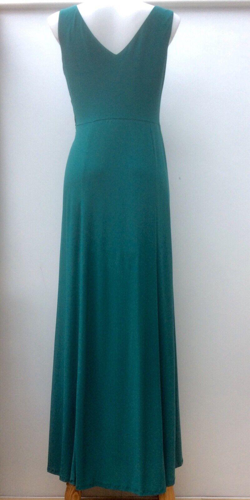 Kaliko Ladies Emerald Green Sleeveless Wrap Wrap Wrap Twisted Front Maxi Dress UK12 D 38 7e64fa