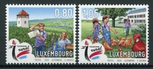 Luxembourg-Landscapes-Stamps-2020-MNH-Rural-Tourism-Architecture-Chickens-2v-Set
