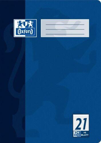 Oxford Heft A4 Lineatur 21 liniert 16 Blatt
