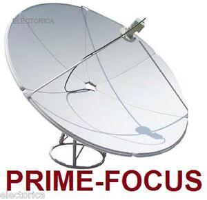 2 1 m prime focus satellite c ku band dish antenna 6 9 ft w pole fta 210 cm ebay. Black Bedroom Furniture Sets. Home Design Ideas