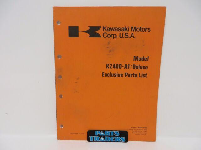 Nos Kawasaki Motorcycle Parts Diagram Lists Catalog Manual Kz400 A1 1977 For Sale Online Ebay