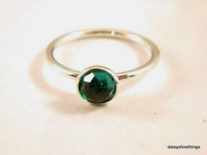 cee82895a Nwt Authentic Pandora Ring May Droplet Synth Green Birthstone