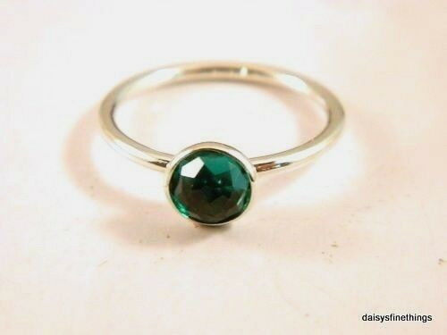 b52550e74 Authentic PANDORA May Droplet Royal Green Crystal Ring 191012nrg-52 Sz 6  for sale online | eBay