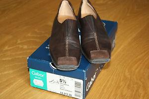 38 55 Schuhe Halbschuhe Braun Trotteur Gr Neu Gabor 5 Leder Damen jc4AL35Rq