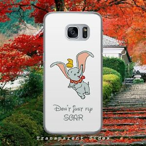 DISNEY-DUMBO-ELEPHANT-QUOTE-HARD-PLASTIC-PHONE-CASE-COVER-FOR-SAMSUNG-HUAWEI
