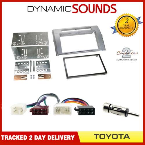 Radio Cage Kit Panneau Façade Adaptateur Double Din pour Toyota Corolla Verso
