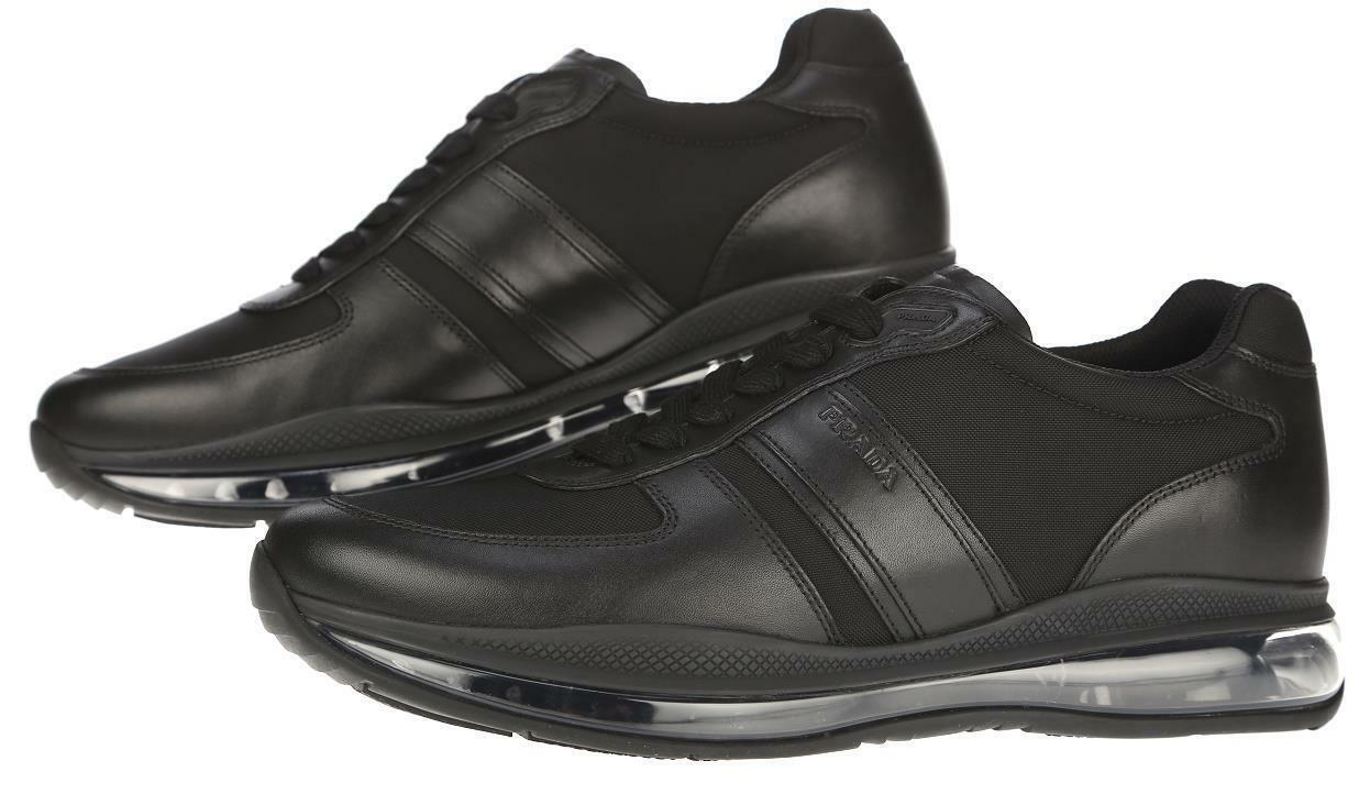 Prada Black shoes For Men Casual Airbag Leather  Size UK 8 9.5 Size
