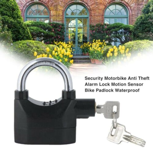 Alarm Padlock For Motorcycle Bike Bicycle Home Anti Theft Alarm Lock Security