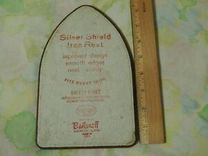 Ballonoff ~ Cleveland, Ohio. USA [Silver Shield Iron Rest] Trivet - Vtg Promo