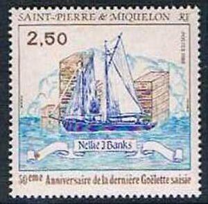 Saint-pierre-et-miquelon-1988-Yv-N-492-Mnh-Nellie-J-Banks-and-crate-of-bottl