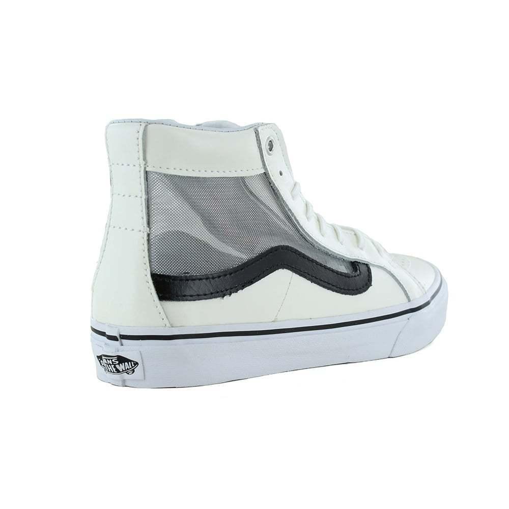 Vans VN 0004 0004 0004 kzisz sk8-hi SLIM Ritaglio Linea Donna Scarpe da skate in pelle bianco e nero af7c4e