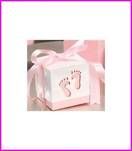 12-Pink-Tiny-Feet-Favor-Boxes-Set-of-12-Baby-Feet-with-Ribbon-PINK