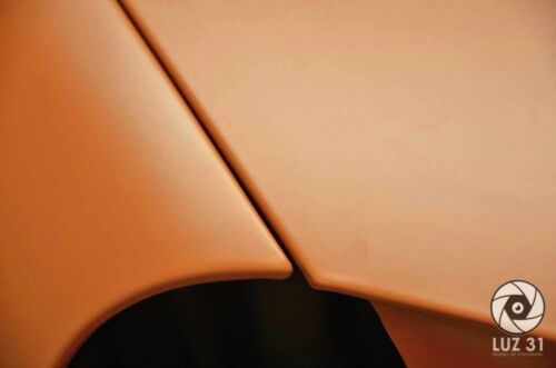 VViViD8 5 x 5ft BRIGHT ORANGE MATTE FLAT CAR VINYL WRAP 3MIL CAST FILM 25 SQRFT