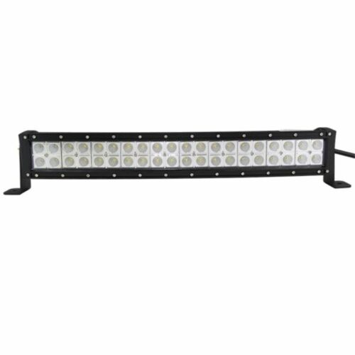 Curved 22inch 120W Cree LED Light Bar Spot Flood Combo Bumper Offroad+Wiring Kit