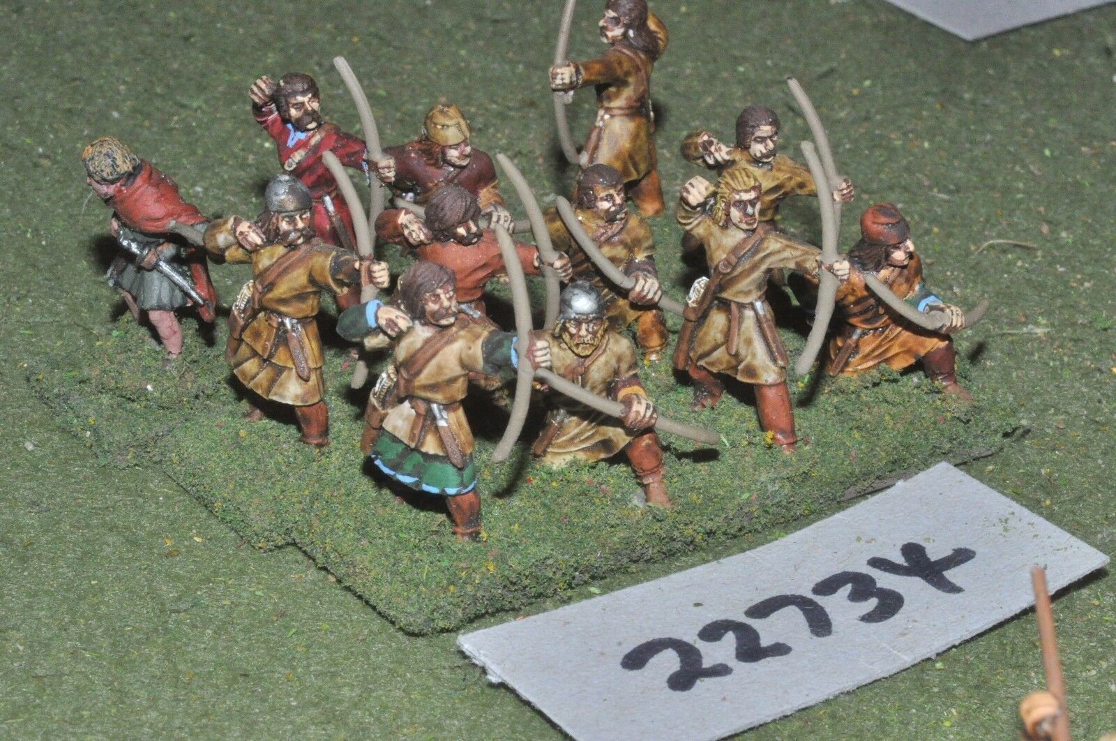25mm dark ages   anglo saxon - archers 12 figs inf - inf (22734)