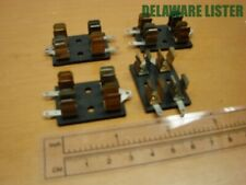 Vintage Lot Of 4x Double Sm 2 Postion Chassis Mount Littelfuse Fuse Holders Nos