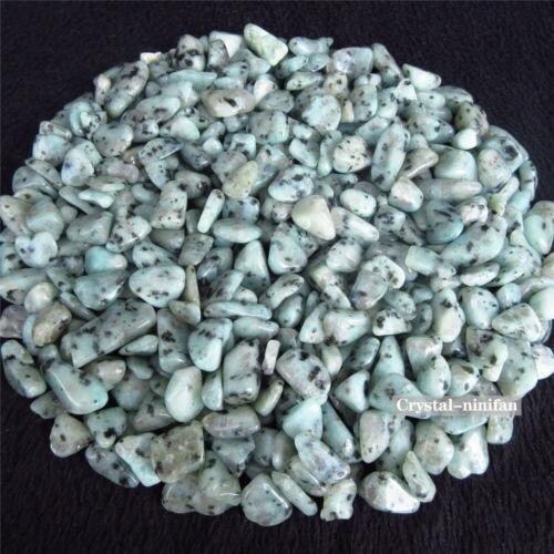 1//2lb Natural Tumbled Tianshan Blue Dalmatian Jasper Granite Crystal Bulk Stones