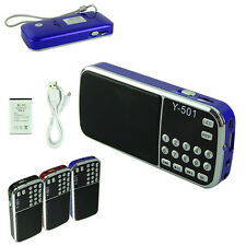 Portable 16GB Mini Speaker MP3 Player Amplifier Micro SD TF FM Radio Flashlight