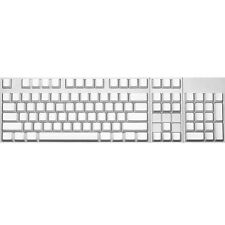 Max Keyboard ANSI 104-key Cherry MX Replacement Keycap Set 6.25x (White / Blank)