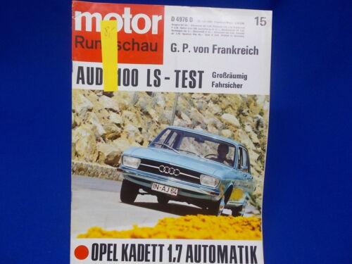 445 Motor Rundschau 1969 Zeitschrift Magazin Auto Automobil Ausgabe 2 9 15
