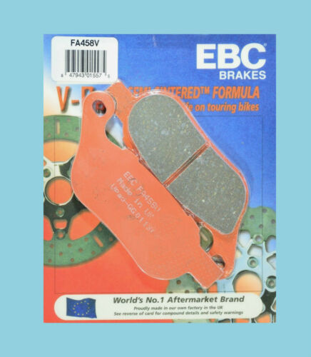 EBC FA458V Semi Sintered Rear Brake Pads Harley FXDB FXDF Street Fat Bob 2008-15