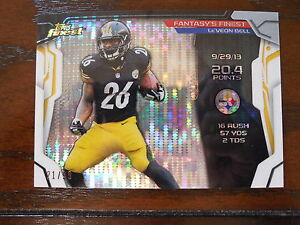2014-Topps-Finest-Football-Le-Veon-Bell-Fantasy-039-s-Finest-Pulsar-Refractor-21-99