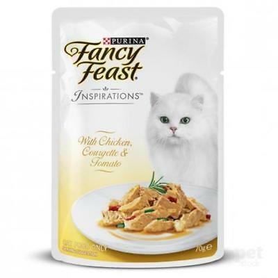 Dishes, Feeders & Fountains Hearty New Ff Inspirations Chicken Crgette Tom 70g Lovely Luster Cat Supplies