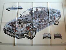 """Opel Vectra Prospekt / Poster - Schnittzeichnung aus """"Start"""", ca.1988, 16 Seiten"""