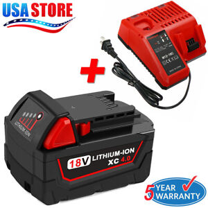 For-Milwaukee-M18-LITHIUM-Battery-18V-48-11-1850-48-59-1812-M12-M18-Charger-US