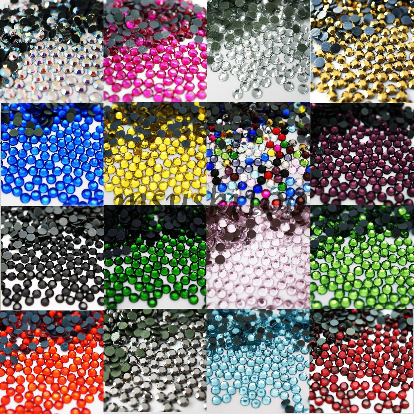 1440 5 mm Ss20 Non Hotfix Bleu Sarcelle Zircon Bijou Acrylique Strass Perle