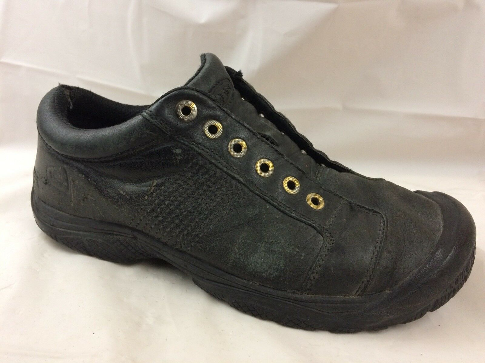 Keen Mens 10.5 M Casual Oxford shoes Work Black Leather Sneaker Non Slip  Marking