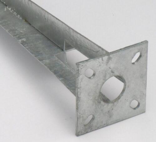 10 Stk Bodenhülse Einschlaghülse Pfostenträger Ø 34 mm Maschendrahtzaun Träger