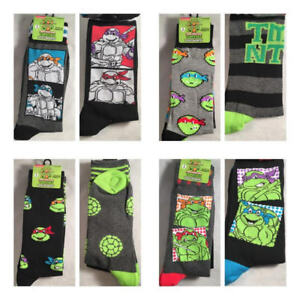 b756bae9e598 2 Pair Teenage Mutant Ninja Turtles Men's Dress Socks Shoe Size 6.5 ...
