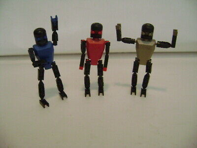5 K/'NEX Action Figures Red Robot People Men Replacement Parts K/'NEXMAN Team