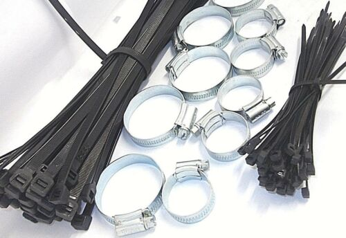 214 piece x assorted hose clip set. Cable ties included small and large.