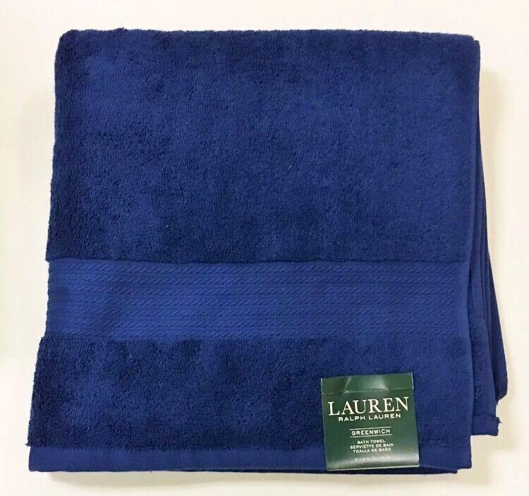 (3) NWT RALPH LAUREN GrünWICH NAVY Blau,100% COTTON COTTON COTTON  Large TOWEL 30 x 56  867215