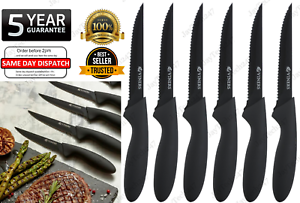 NEW Viners TRADITIONAL Steak Knives Dining Cutlery Soft Touch Handles Set of 6Pc