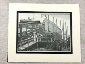 1882 Stampa Australiano Passeggero Steamer Nave The Courier Wallsend Cantiere