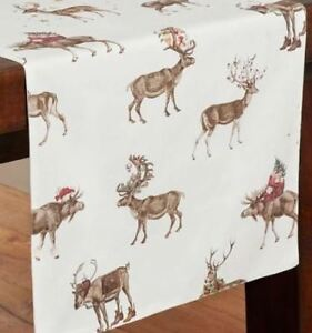 New Pottery Barn Silly Stag Reindeer Christmas Table