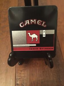Vtg Camel Izmir Stinger Collectible Metal Cigarette Tin Complements Your Coctail Ebay