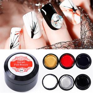 Nail-Art-Draht-Linie-Silk-Punkt-Kreative-Ziehen-Spinne-Malerei-Gel-Lack-Geschenk