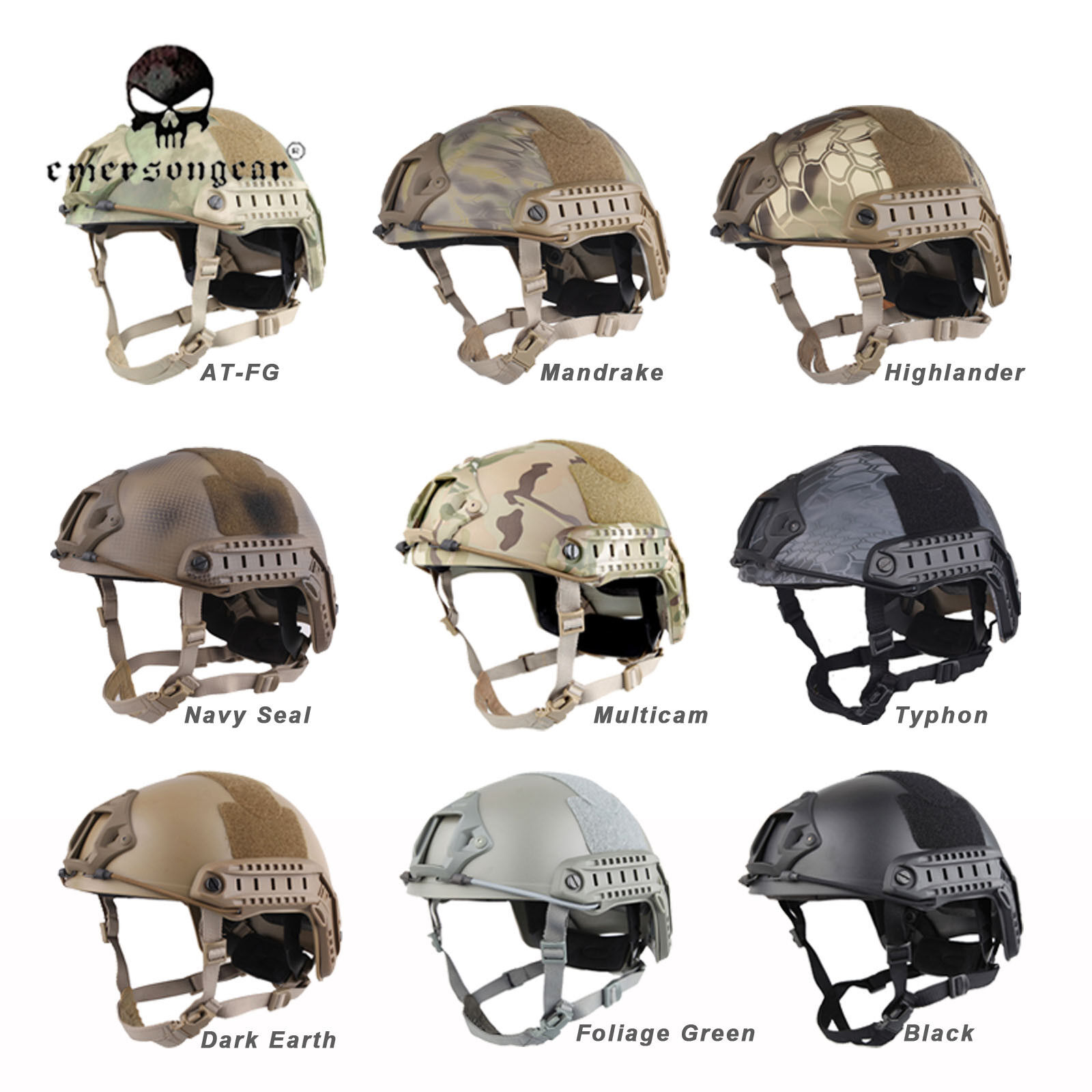 Emerson FAST Helmet  MH Type Tactical Military Helmet Predective Helmet EM5658  online shopping and fashion store