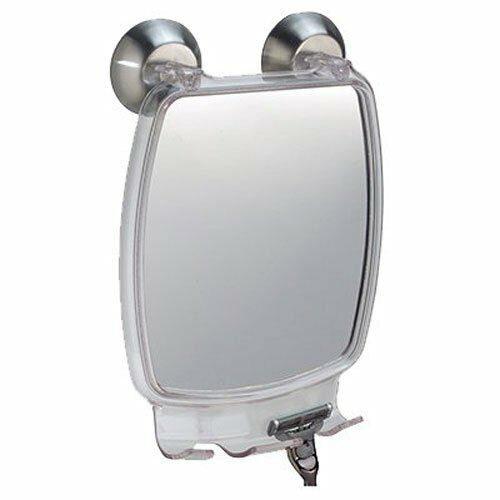 Fog Free Shaving Mirror Bathroom Shower Fogless Power Lock With Razor Holder New