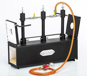 DFPROF3-2D-GAS-PROPANE-FORGE-Furnace-Burner-Knife-Making-Blacksmith-Farrier