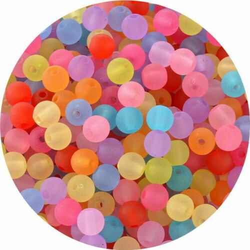 SEA RIGS Assorted Translucent Rig Round Buffer Beads Attractors 6 /& 8 mm